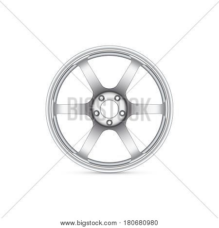Realistic alloy wheel isolated. Vector illustration eps 10