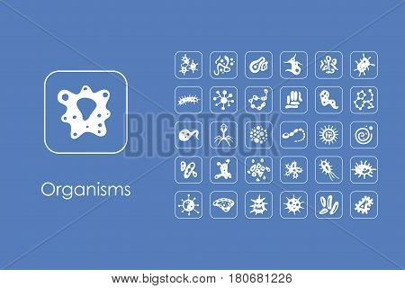 It is a set of organisms simple web icons