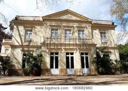 Casa Palacio in Conception Botanical Garden Malaga Andalusia Spain. Popular touristic european destionation