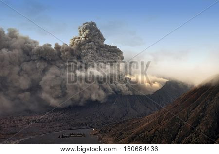 Batok And Bromo Volcano Form East Java, Indonesia. .