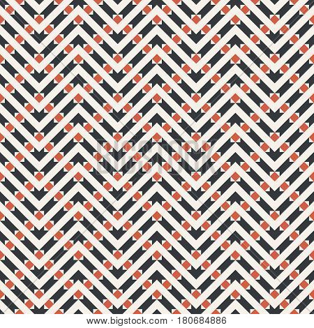 Vector seamless pattern. Modern stylish texture in the form of zigzags waves. Regularly repeating geometric shapes rhombuses strips. Vector element of graphical design