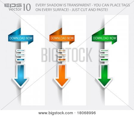 Download Banner with TRANSPARENT shadows ready to be placed on a border page.