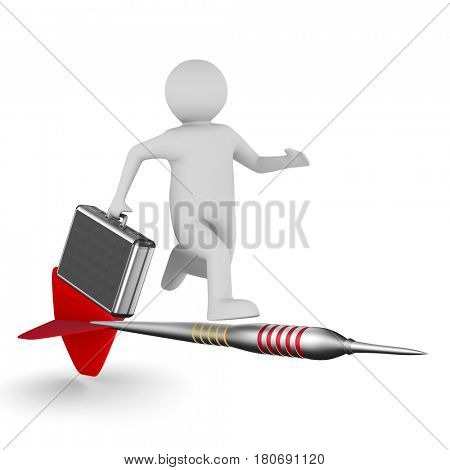 businessman on white background. Isolated 3D illustration