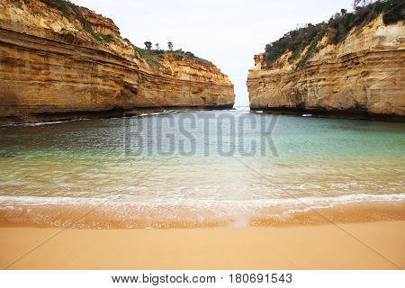 The beautiful scenery of Loch Ard Gorge in south of Australia