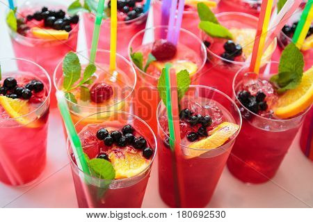 Non-alcoholic cocktails. Fruit and berry cocktails. Fitness Bar