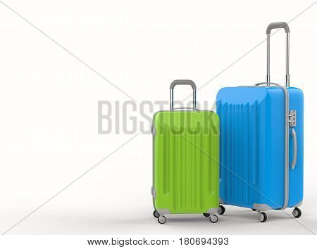 Blue And Green Hard Case Luggages