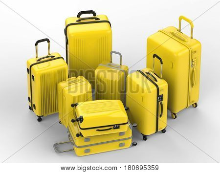 Yellow Hard Case Luggages