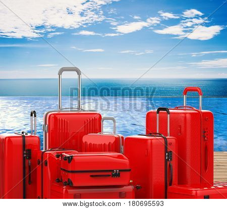 Red Hard Case Luggages