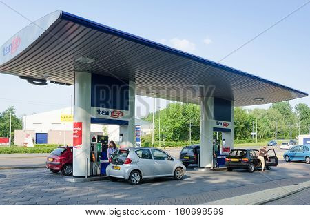 SCHIEDAM - APRIL 15: Tango gas station on April 15, 2014, Schiedam, The Netherlands. Tango gas is one of the big oil company, opens up stations all over Europe.