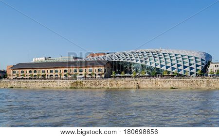 Bálna Budapest, Hungary, 20 July, 2016: View of the building of