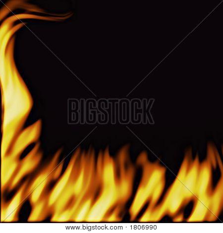 Flammen auf schwarz