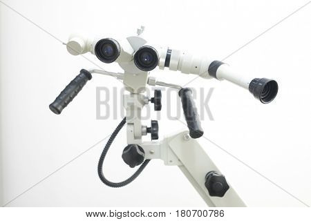 oculare of medical equipment of ophthalmologist