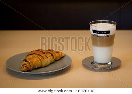 Latte Macchiato With Croissant