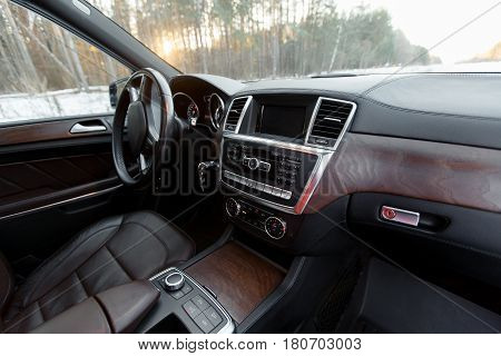 Simple Yet Stylish And Balanced Interior Of A Modern Car.