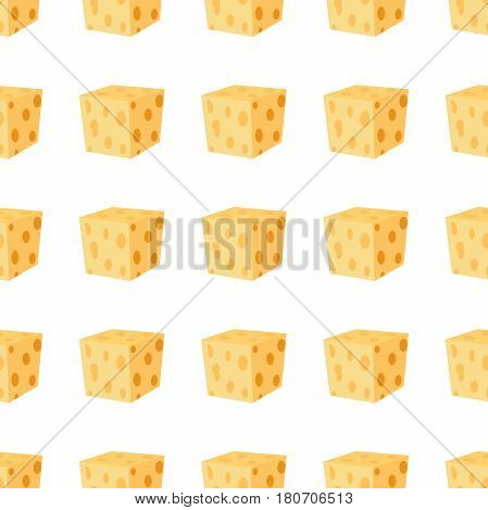 Cheddar, parmesan cheese seamless pattern. Dairy milky product. Made in cartoon flat style.