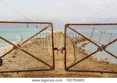 Dead sea - Israel, Some places are closed because there is not enough water