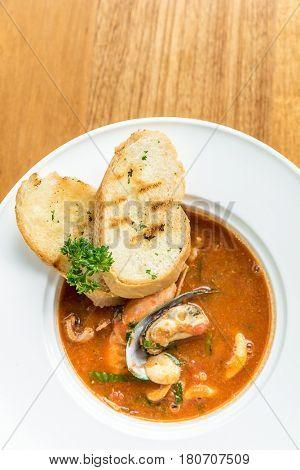 Pasta with Seafood Marinara sauce