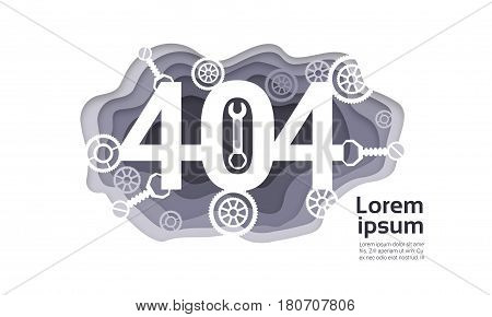 404 Not Found Problem Internet Connection Error Vector Illustration