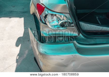 Broken tail light , car transportation, broken