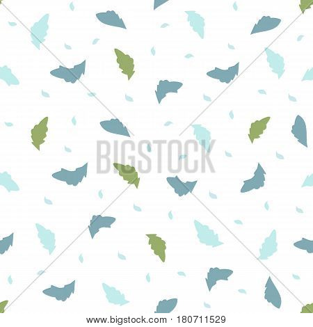 Seamless pattern with small leaves and petals. lightweight background for textiles and various designs. vector