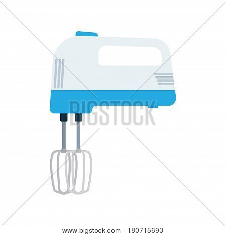 Kitchen hand mixer. vector illustration on white background in flat style