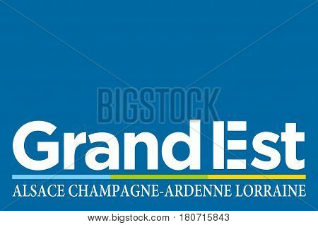 Flag of Grand Est is a French administrative region in northeastern France