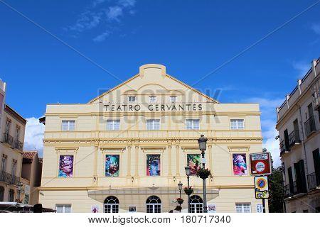 Cervantes Theatre In Malaga, Spain