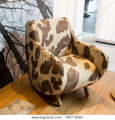 Armchair On Display At Fuorisalone 2017 In Milan, Italy