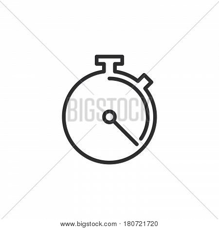 Stopwatch chronometer line icon outline vector sign linear style pictogram isolated on white. Symbol logo illustration. Editable stroke. Pixel perfect