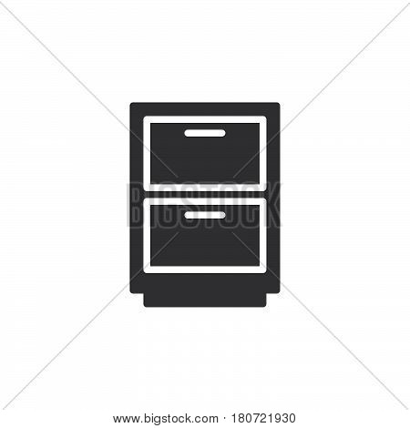 Cabinet archive icon vector filled flat sign solid pictogram isolated on white. Symbol logo illustration. Pixel perfect