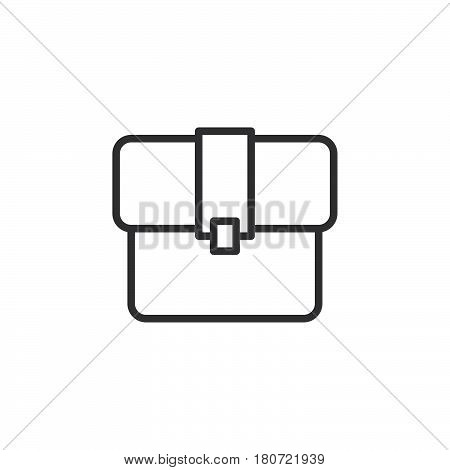 Briefcase line icon outline vector sign linear style pictogram isolated on white. Portfolio symbol logo illustration. Editable stroke. Pixel perfect