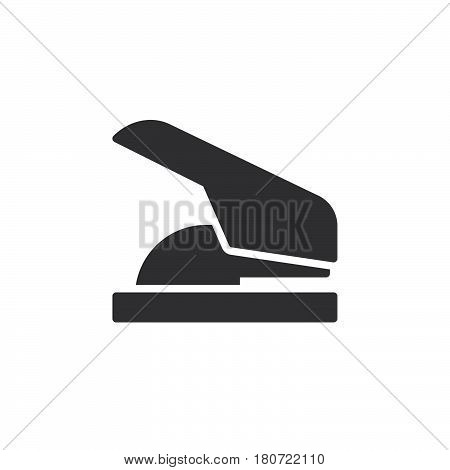 Paper hole punch icon vector filled flat sign solid pictogram isolated on white. Symbol logo illustration. Pixel perfect