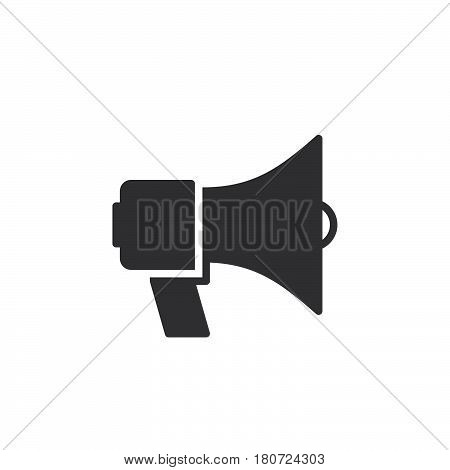 Megaphone bullhorn icon vector filled flat sign solid pictogram isolated on white. Announcement symbol logo illustration. Pixel perfect