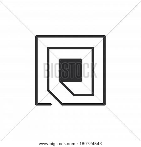 Rfid chip icon vector filled flat sign solid pictogram isolated on white. Symbol logo illustration. Pixel perfect