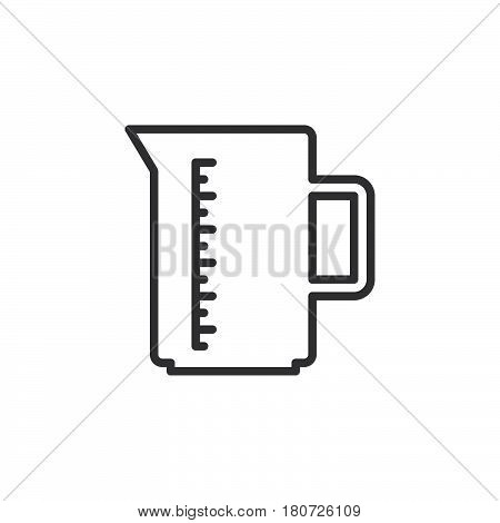 Measuring cup line icon outline vector sign linear style pictogram isolated on white. Symbol logo illustration. Editable stroke. Pixel perfect
