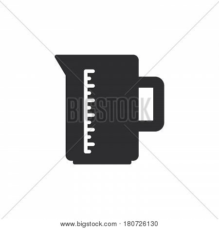 Measuring cup icon vector filled flat sign solid pictogram isolated on white. Symbol logo illustration. Pixel perfect