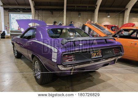 Plymouth Hemi Cuda 1970  Coupe On Display