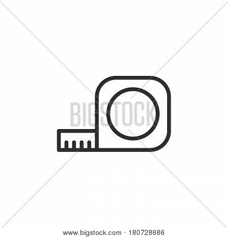 Tape Measure Roll line icon outline vector sign linear style pictogram isolated on white. Symbol logo illustration. Editable stroke. Pixel perfect