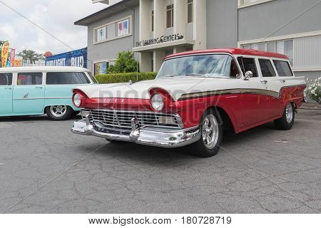 Chevrolet Bel Air Wagon On Display