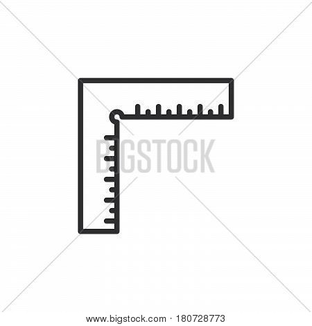 Precision square line icon outline vector sign linear style pictogram isolated on white. Symbol logo illustration. Editable stroke. Pixel perfect