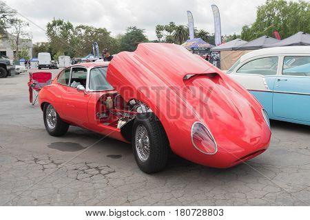 Jaguar E-type On Display