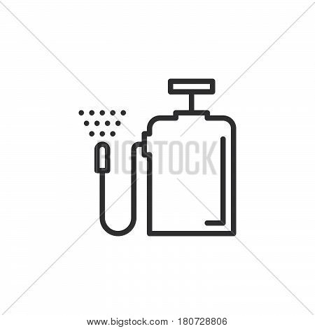 Pressure sprayer line icon outline vector sign linear style pictogram isolated on white. Symbol logo illustration. Editable stroke. Pixel perfect