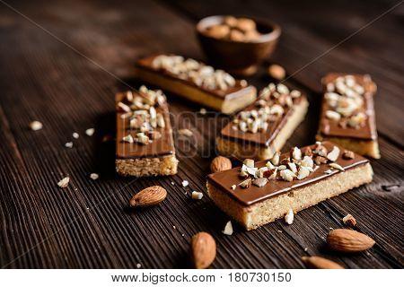 Almond Shortbread Sticks With Chocolate Glaze