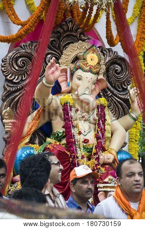Lord Ganesha Procession one: Procession of Lord Ganesha on Anant Chaturdashi Day.