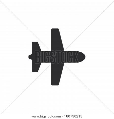 Plane airplane mode icon vector filled flat sign solid pictogram isolated on white. Symbol logo illustration. Pixel perfect