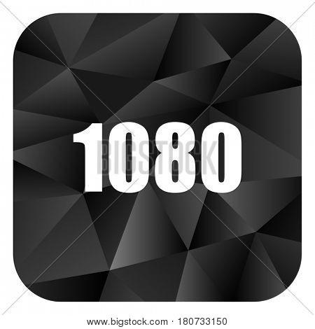 1080 black color web modern brillant design square internet icon on white background.