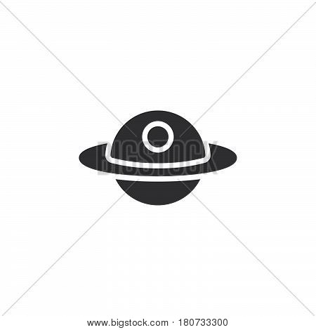 Unidentified flying object or UFO icon vector filled flat sign solid pictogram isolated on white. Alien space ship symbol logo illustration. Pixel perfect