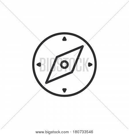 Compass line icon outline vector sign linear style pictogram isolated on white. Navigation symbol logo illustration. Editable stroke. Pixel perfect