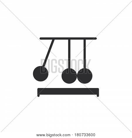 Newton's cradle icon vector filled flat sign solid pictogram isolated on white. Executive ball clicker symbol logo illustration. Pixel perfect