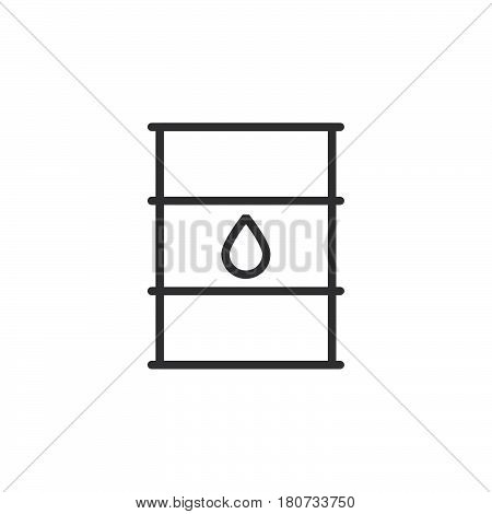 Oil barrel line icon outline vector sign linear style pictogram isolated on white. Symbol logo illustration. Editable stroke. Pixel perfect